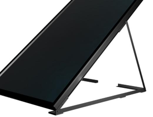 HRSolar platdak verticale montage