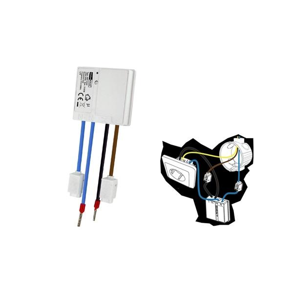 AWS-3500 Mini inbouw schakelaar stopcontact