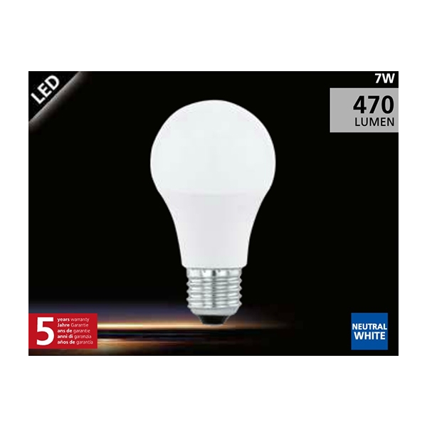 EGLO LED Lamp 7W (40W) E27 neutraal wit01