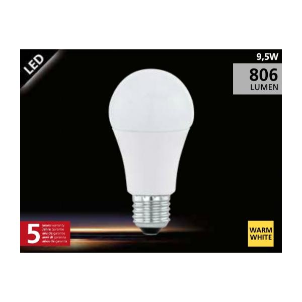 EGLO LED Lamp 9.5W (60W) E27 warm wit01