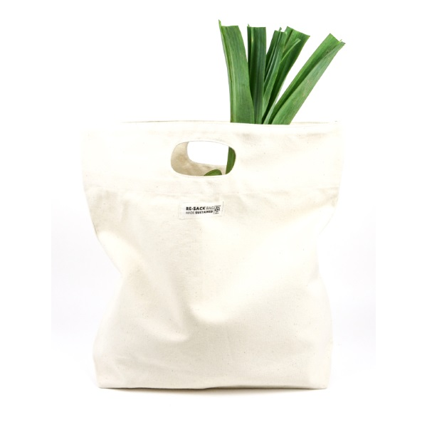 Re-Sack Canvas bag with cut handle and vegetable