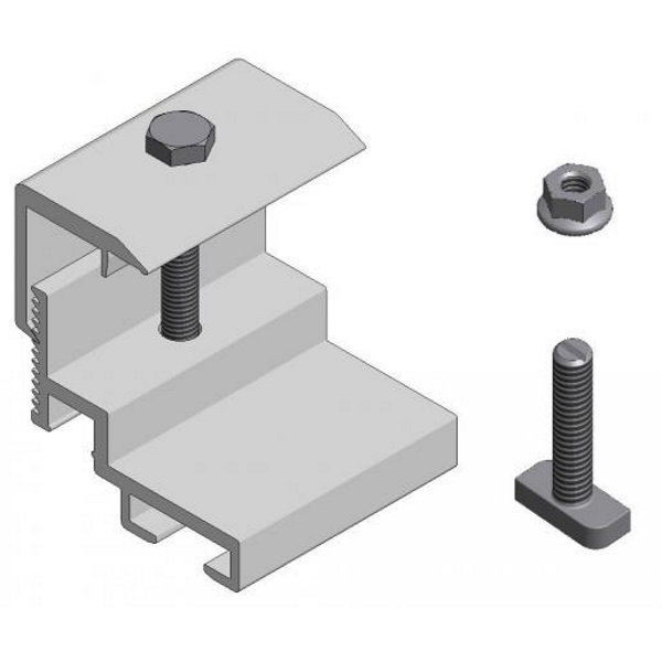 Adapter-set micro-omvormer platdak