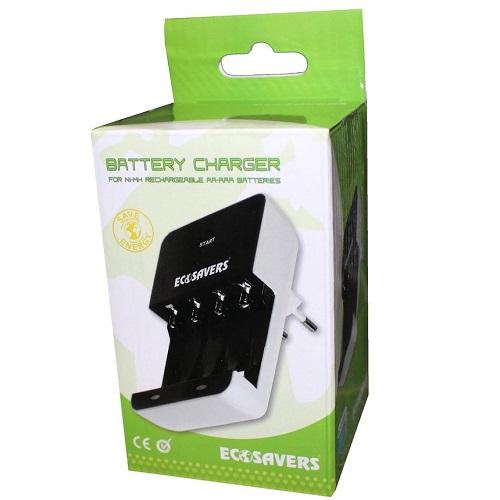 verpakking batterij oplader AA en AAA
