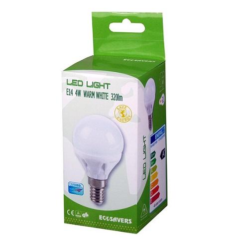 Ledlamp 4w miniglobe E14 ecosavers
