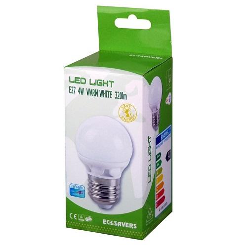 LED lamp 4W Ecosavers E27 verpakking