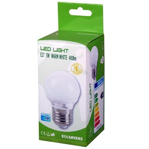 LED lamp 5W Ecosavers E27 verpakking